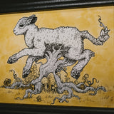 Lamb of Tartary Original Illustration - Framed