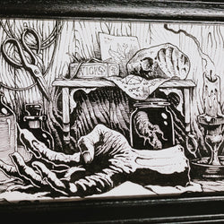 Hand of Glory (the making) Original Illustration - Framed