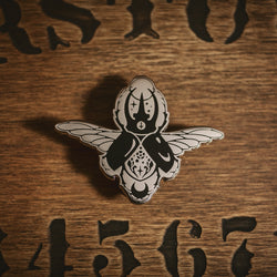 Night creatures - The Scarab Enamel Pin