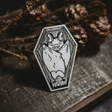 The Small Coffin Enamel Pin