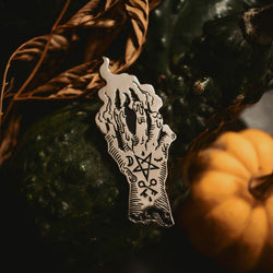The Hand of Glory Enamel Pin