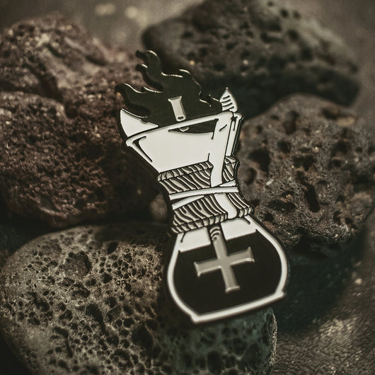 Hell of a Morning enamel pin