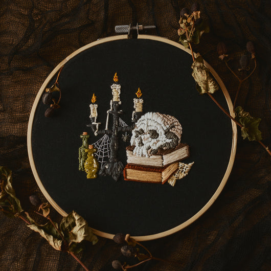 Necromancer's Table Embroidery