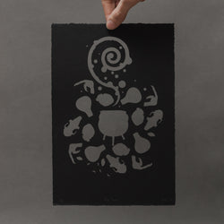 The Cauldron Paper Cutting