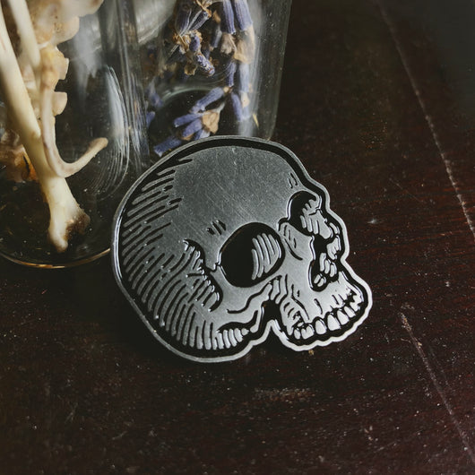 Skull Enamel Pin - Seconds