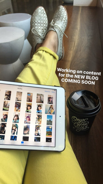 Enjoying an Onyx coffee while working on blog posts on my iPad.