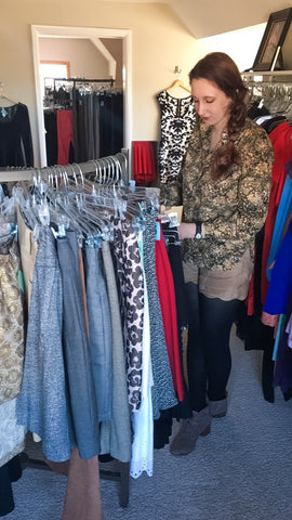Me shopping in Beautiful Lives Boutique
