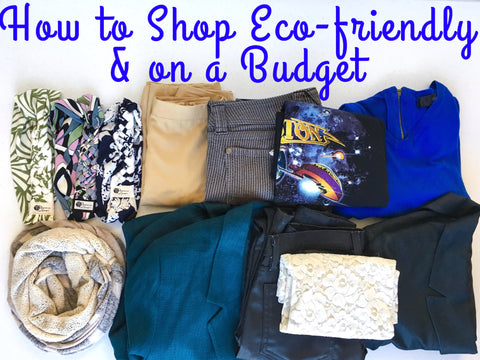 How to Shop Eco-friendly and on a Budget title graphic