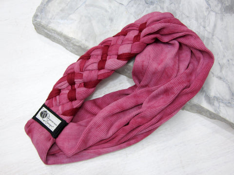 Big Braided Headband – Cranberry Twist