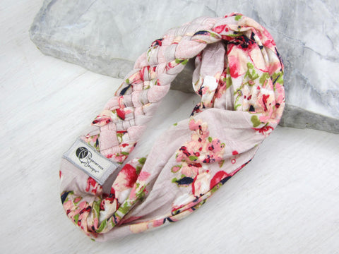 Big Braided Headband – Cherry Blossom