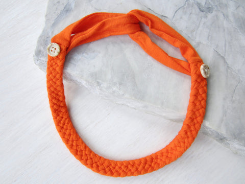 The Adjustable Button Band – Tangerine
