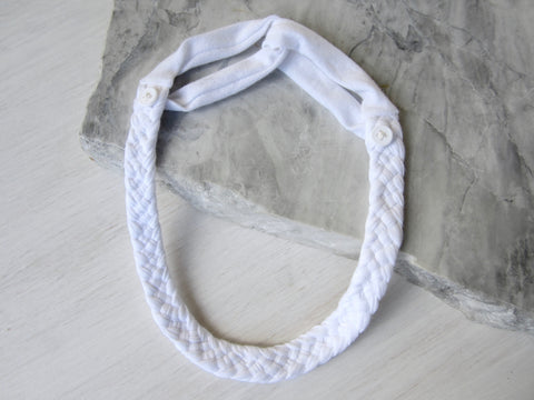 The Adjustable Button Band - White
