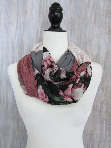 The Twist Infinity Scarf – Elegant Rose