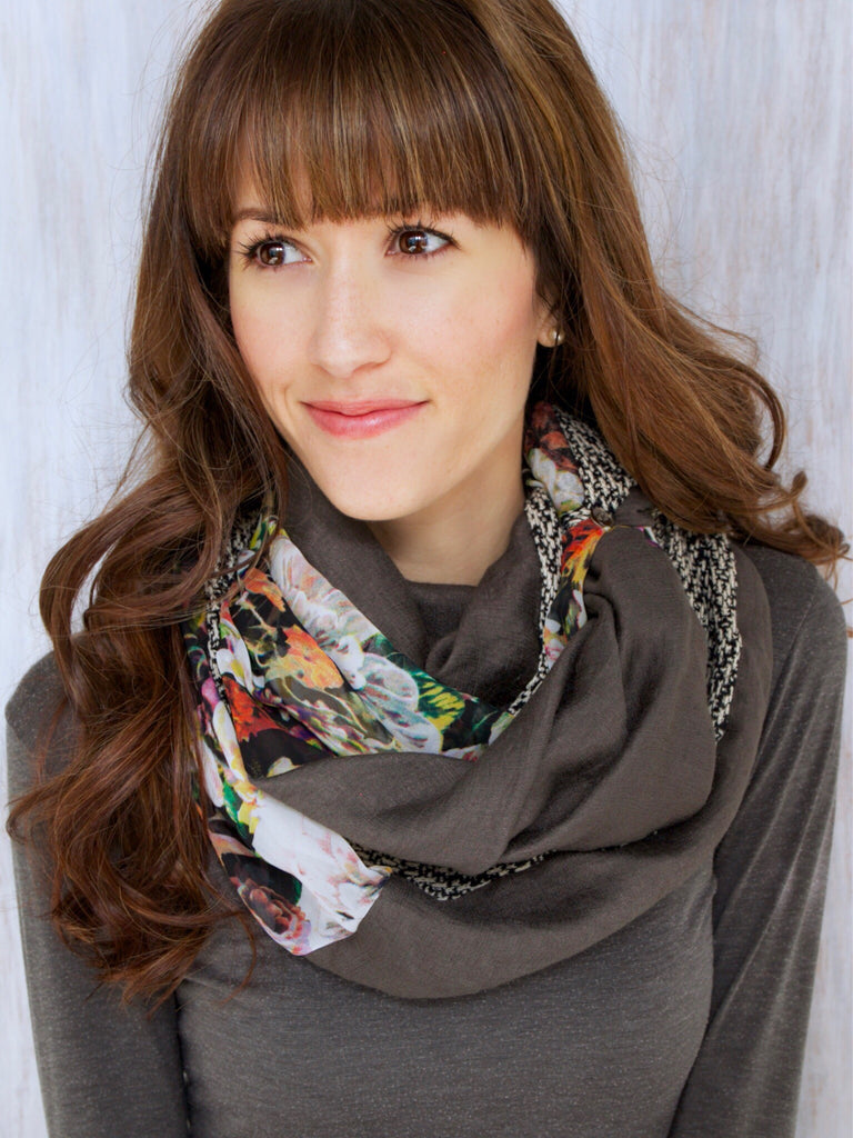 The Twist Infinity Scarf – Woodland Wonder