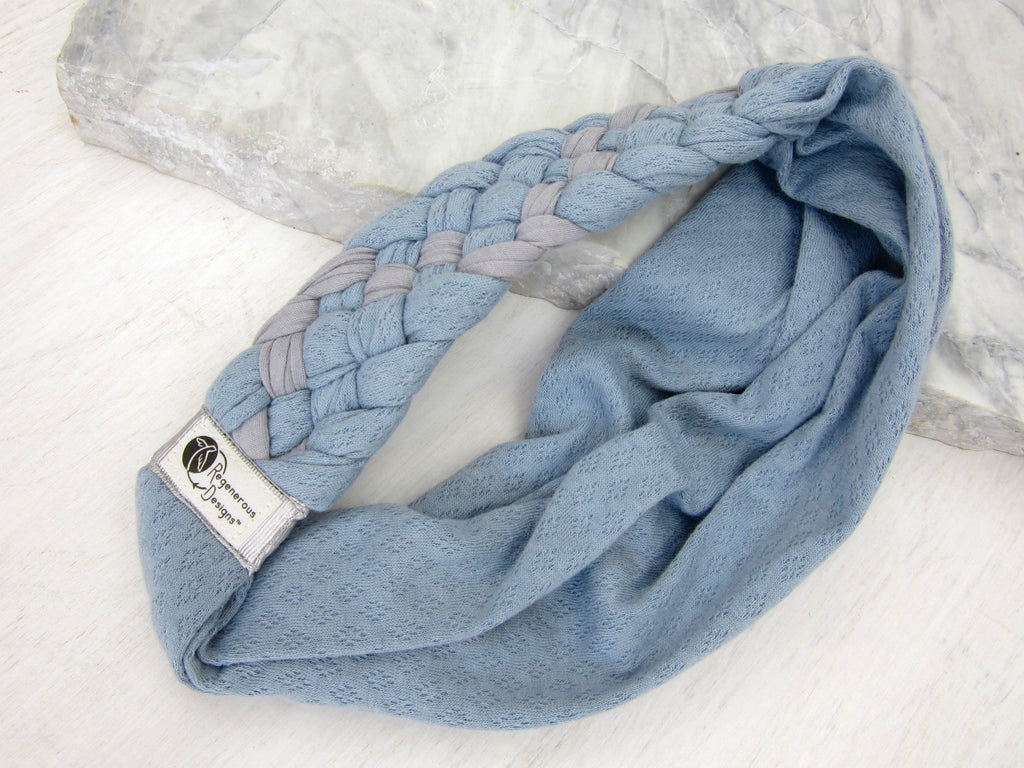 Big Braided Headband – Grey Skies