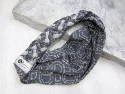 Big Braided Headband – Grey Geode