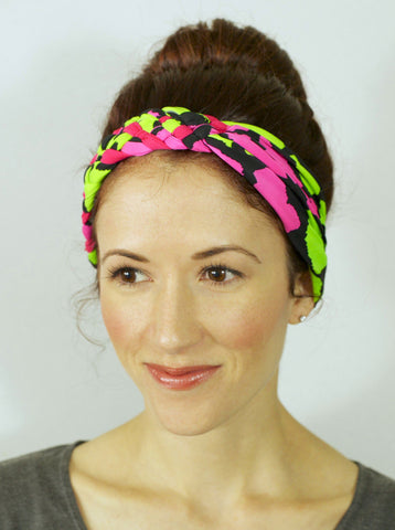 Big Braided Headband – Watermelon