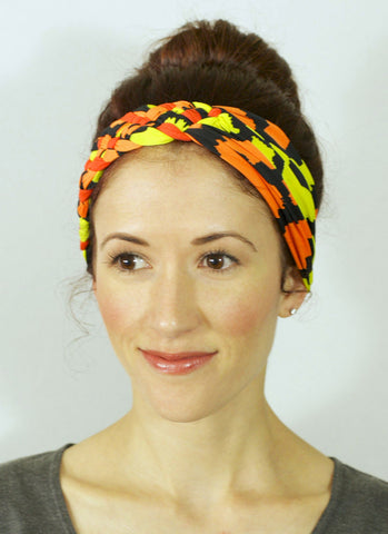 Big Braided Headband – Solar Flare