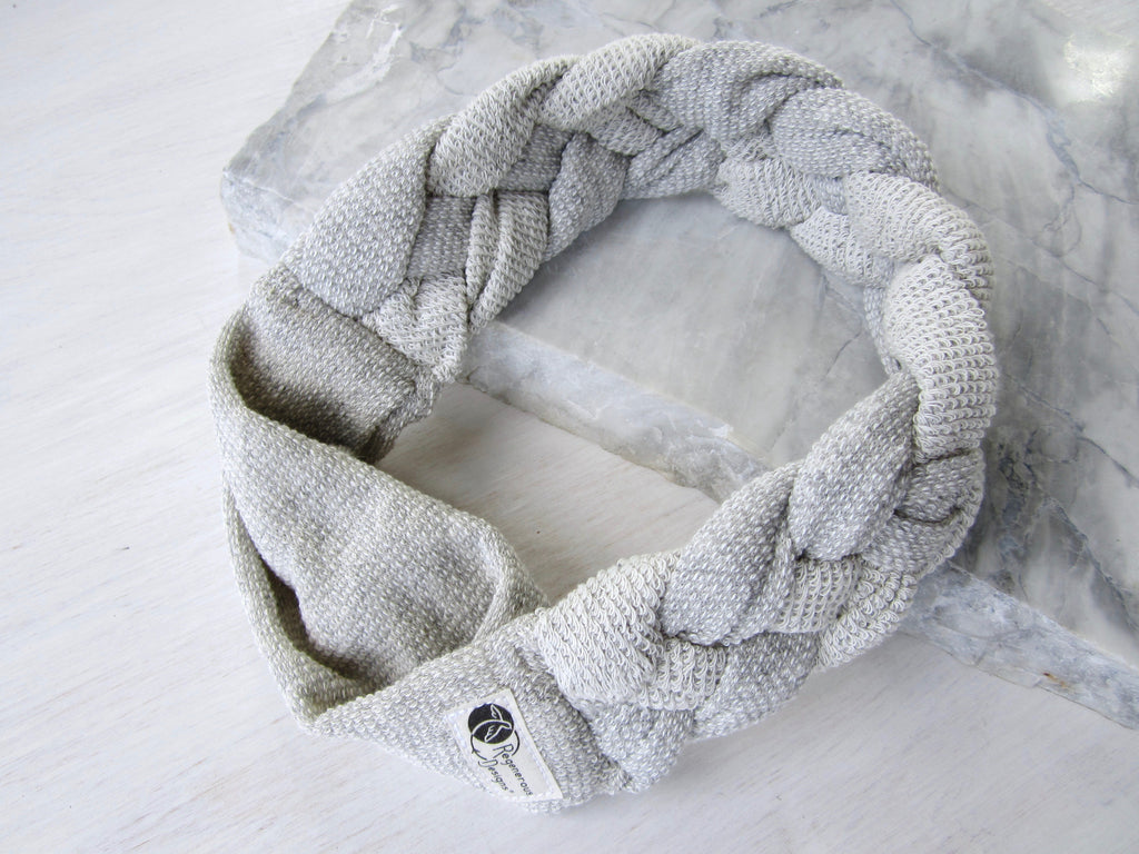 Big Braided Headband – Snow Fall