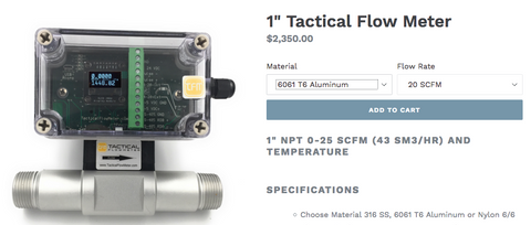 Natural Gas Flow Meter BTU to SCFH – Tactical Flow Meter