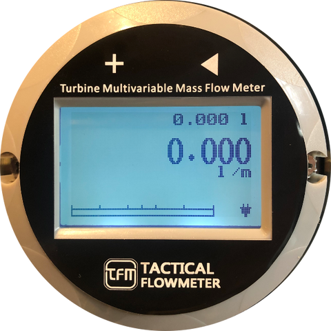 Turbine flow meter display, tactical Flow Meter