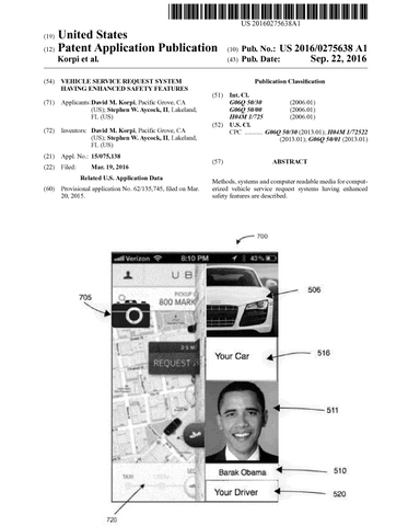 Dave Korpi Patent Improved Security Ride Hailing System and Method for Lyft and Uber