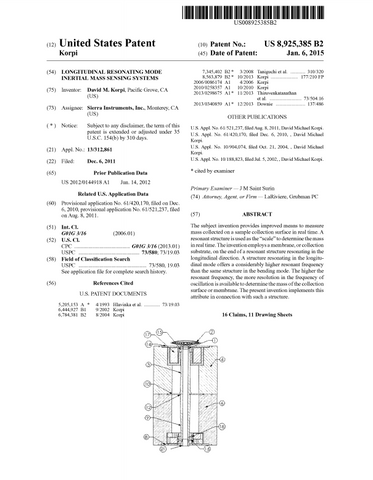 Dave Korpi Patent Compensated Resonant Structure