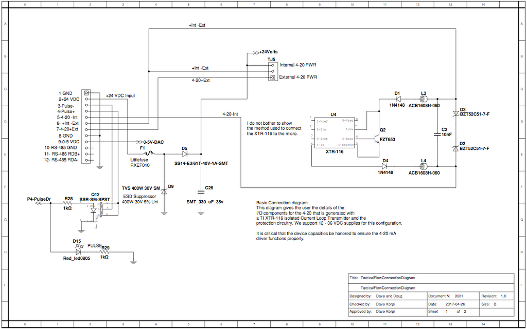 Flow Meter Wiring Diagram - Wiring Diagram & Cable Management on