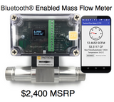 "1"" Thermal Mass Flow Meter With Bluetooth® for Gas 316 SS Flow Body"