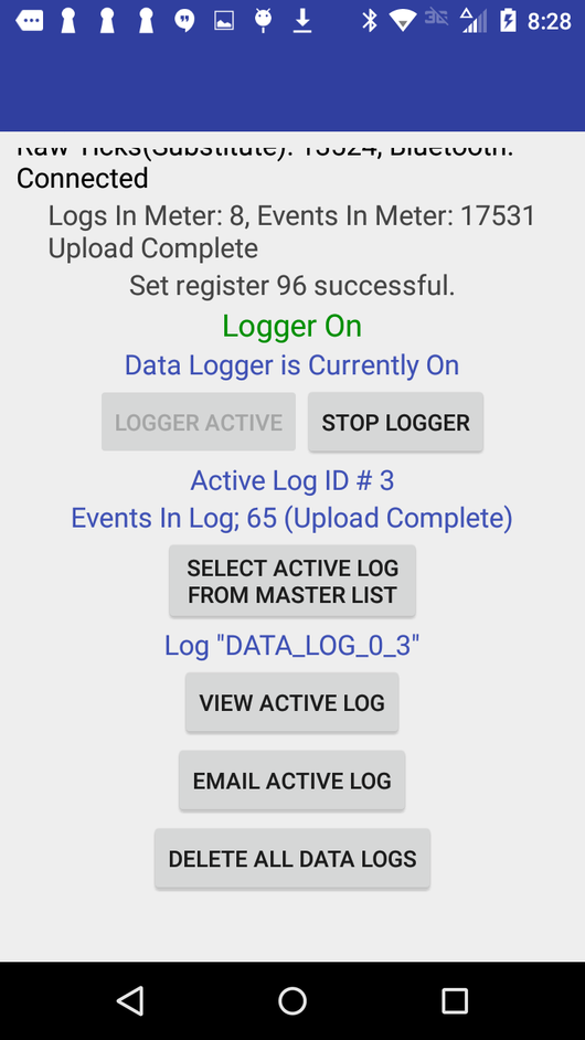 Android Application – Tactical Flow Meter