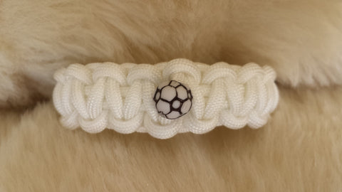 SOCCER BALL PARACORD BRACELET-CHOOSE SIZE