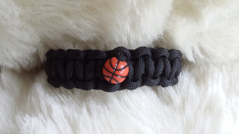 BASKETBALL PARACORD BRACELET-CHOOSE SIZE