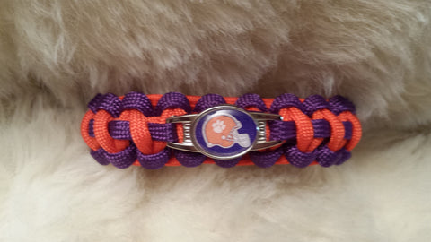NCAA Clemson Tigers Paracord Bracelet-Choose Size
