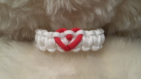 VALENTINE HEART PARACORD BRACELET-CHOOSE SIZE