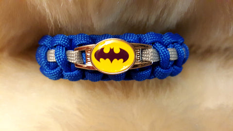 BATMAN PARACORD BRACELET-COMIC BOOK COLORS