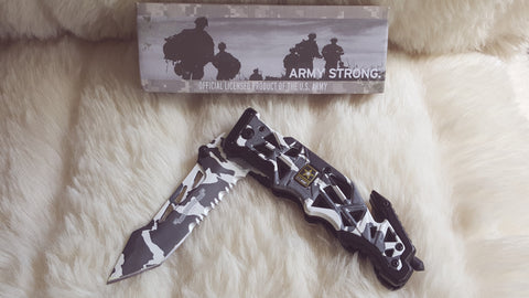 ARMY CAMO Tactical Rescue Knife