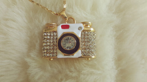 BETSEY JOHNSON CAMERA NECKLACE