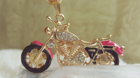 Betsey Johnson MOTORCYCLE NECKLACE-NEW