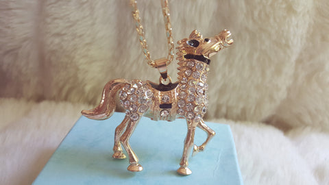 BETSEY JOHNSON Carousel Horse Necklace