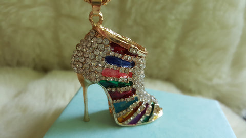BETSEY JOHNSON  HIGH-HEEL SHOE 3D Necklace
