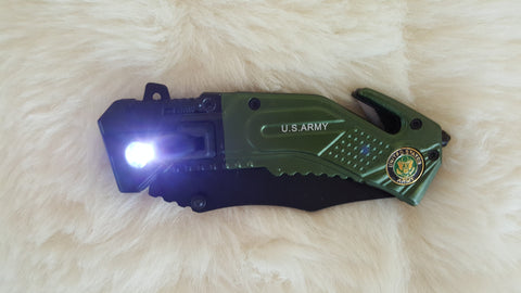 ARMY LED TACTICAL Rescue Knife-New