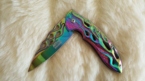 RAINBOW FLAME POCKET KNIFE