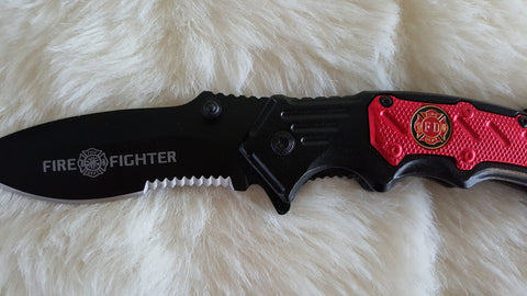FIRE FIGHTER TACTICAL RESCUE POCKET KNIFE