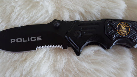 POLICE TACTICAL RESCUE POCKET KNIFE