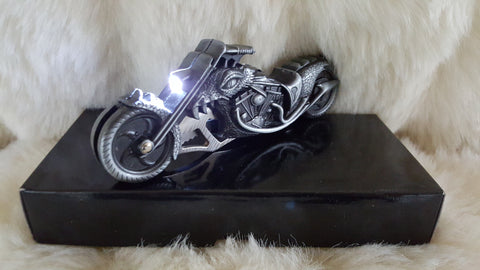 MOTORCYCLE KNIFE W/LED FLASHLIGHT-DRAGON