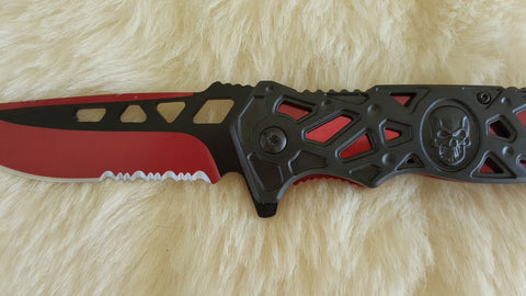 CRIMSON TITANIUM TACTICAL SPRING ASSIST POCKET KNIFE