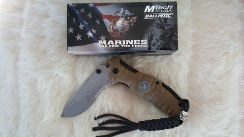 MARINES TACTICAL RESCUE KNIFE-DESERT TAN