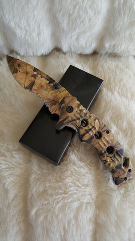 CAMO TACTICAL RESCUE POCKET KNIFE