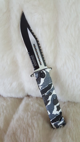 URBAN CAMO SAWBACK Bowie Tactical Rescue Knife-New