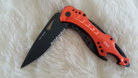 EMT TACTICAL RESCUE POCKET KNIFE W/BOTTLE OPENER